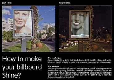 Aquafresh: Shiny billboard