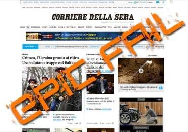 Il Corriere della Sera e la notizia non trovata