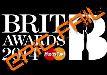 Mastercard Brit Awards 2014 Epic Fail
