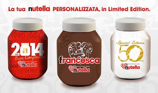Vasetti Nutella in edizione limitata per i 50 anni dell'azienda